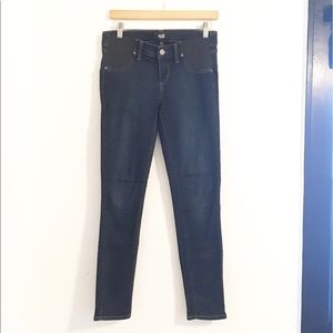 PAIGE Maternity Verdugo Ankle Dark Skinny Jeans 25